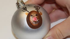 reindeer fingerprint ornament