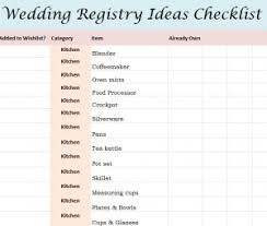 wedding registration list exle wedding registry list