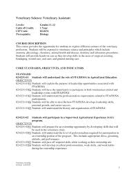 Resume Job Template veterinary technician sample resume haadyaooverbayresort com