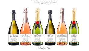 Bridal Shower Wine Basket First Married Moments Champagne Labels Or Wine Labels Bridal