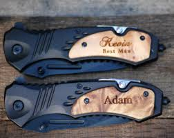 personalized knives groomsmen rescue knife etsy