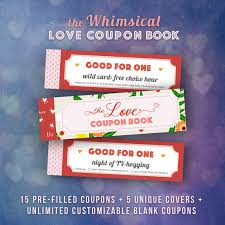 printable romantic gift certificates love coupons book for him valentines day gift ideas husband