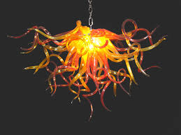 Orange Glass Chandelier Hand Blown Glass Chandeliers Lightings And Lamps Ideas