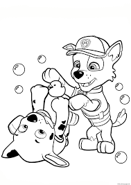 paw patrol rocky and marshall coloring pages printable