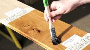 application of oak floor finishes