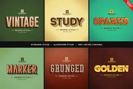 game logo text styles by designhatti on envato elements