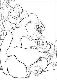 baby tarzan coloring free printable coloring pages