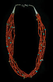 coral necklace images Coral necklace with turquoise and shell cjmjc 1 jpg