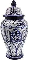 Blue And White Ceramic Vase Blue And White Ginger Jar Vase No 10 Original Watercolor
