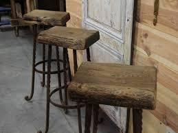 Wood Bar Stool With Back Bar Stools Reclaimed Wood Barstool Bar Stools Made From