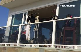 hermosa beach houses displaying top halloween decorations