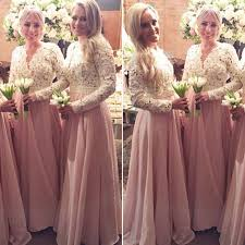 bridesmaid dress beautiful pearls lace chiffon bridesmaid dresses pretty light pink