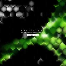 green hexagon background pattern 123freevectors
