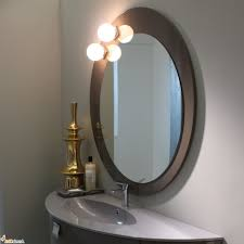 Bathroom Lighted Mirrors by Lighted Elegant Vanity Mirror Combined Classy Brass Display