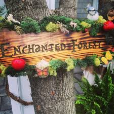woden sign from a boho enchanted forest birthday party via kara u0027s