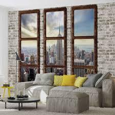 wall mural new york city skyline window view xxl photo wallpaper