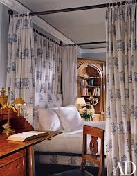 in the guest room duffy chose an indian fabric with an elephant
