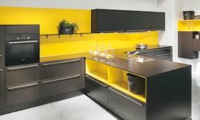 cuisine noir et jaune décoration cuisine jaune et gris 28 nantes 06070005 dans inoui