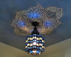 Light Fixture Ceiling Medallion by Moroccan Style Light Fixtures U2013 Doteco Co