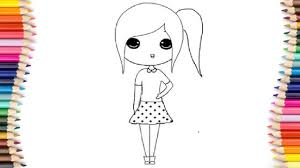 chibi coloring pages for kids chibi coloring pages youtube