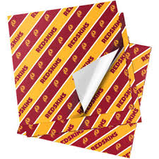 washington redskins gift bags wrapping paper gift tags nflshop
