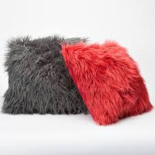 Ikea Faux Fur Throw Colorful Faux Fur Pillow Cover Design Decorcraze Com Awesome Ideas