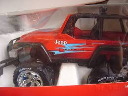 jeep wrangler red nikko jeep monster wrangler red r c radio control vehicle 27 mhz