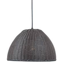 Wicker Pendant Light High Low Black Rattan Pendant Light Remodelista