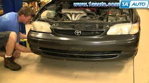 how to install replace front bumper cover toyota corolla 98 02