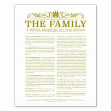family proclamation printable lds family posters family proclamation articles of