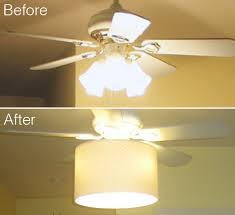 diy ceiling fan makeover drum shade tutorial shows how to