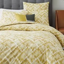 organic fan diamond quilt cover pillow shams horseradish