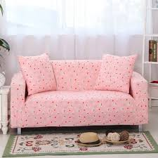 Pink Sectional Sofa Unikea Cartoon Pink Sofa Cover Elastic L Shaped Sofa Cover