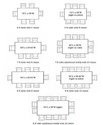 Dining Room Dimensions 10 Person Table Size 28 Images How To Choose A Dining For 6 Tables