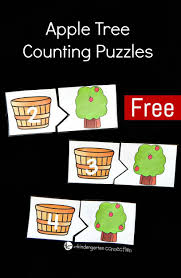 apple tree counting puzzles the kindergarten connection