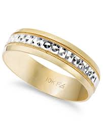 two tone wedding rings men s 10k gold and 10k white gold ring two tone wedding band 6mm