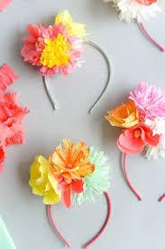 flower headbands diy paper flower headband diy oh happy day recycle crafts