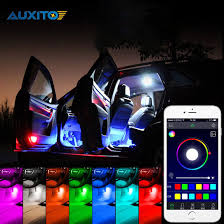 app controlled car lights car interior rgb led strip light atmosphere decoration l with