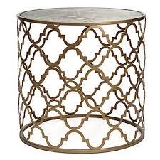 z gallerie side table zinc door regina andrew gold leaf beveled glass top table living