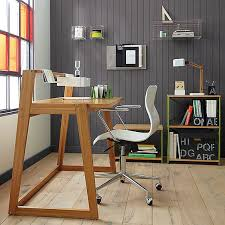 Fully Assembled Computer Desks by Martin Furniture Contemporary Double Pedestal Computer Desk