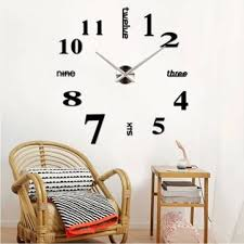 Large Mirrored Wall Clock M Sparkling Large Mirror Wall Clock 3d Hanging Clock Bracket Clock