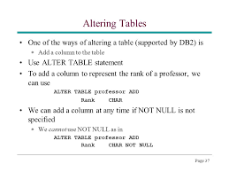 db2 alter table add column page 1 topic 5 sql cps510 database systems abdolreza abhari