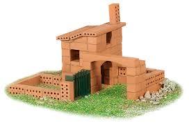 chalet a monter soi meme maison de briques jeu construction teifoc
