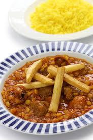 cuisine iranienne gheimeh de khoresh cuisine iranienne image stock image du