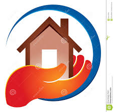 home logo icon holding home logo stock vector image of caring blue 32476768