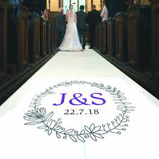 purple aisle runner personalised aisle runner with initials black sheep design