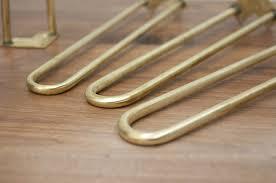 Brass Coffee Table Legs Brass Hairpin Legs From Reform Brass Design Sponge