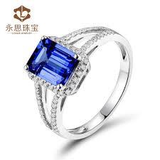 natural tanzanite rings images 1 7ct natural tanzanite engagement ring natural dia emerald cut jpg
