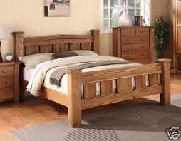 Oak Bed Frame Michidean 5 King Size Solid Oak Bed Frame 5055894452584