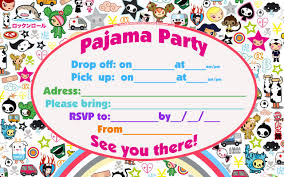 sleepover birthday party invitations vertabox com